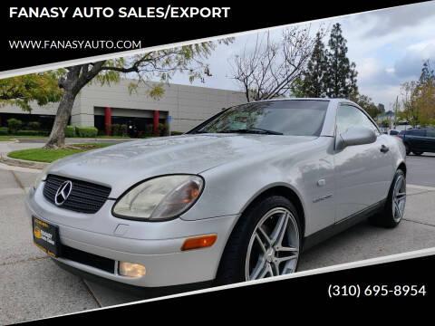 1998 Mercedes-Benz SLK for sale at FANASY AUTO SALES/EXPORT in Yorba Linda CA