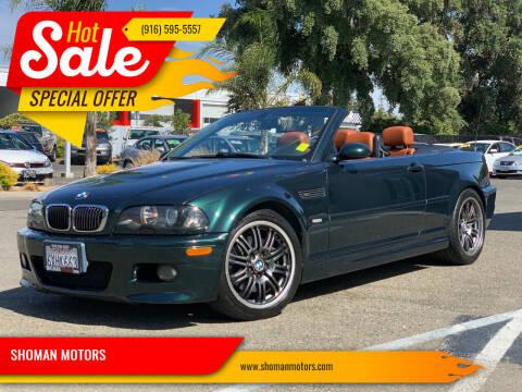 2004 BMW M3 for sale at SHOMAN MOTORS in Davis CA