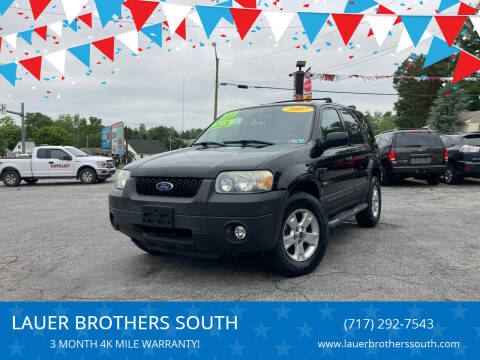 2007 Ford Escape for sale at LAUER BROTHERS SOUTH in York PA