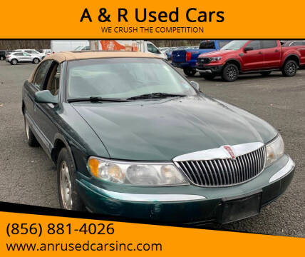 1998 Lincoln Continental for sale at A & R Used Cars in Clayton NJ