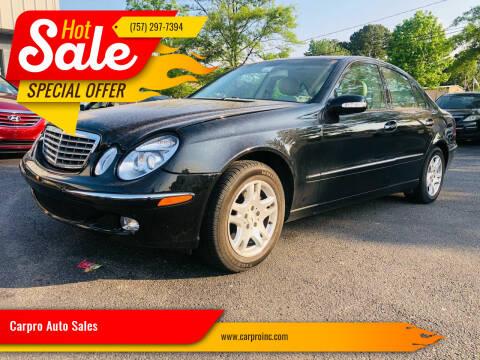 2004 Mercedes-Benz E-Class for sale at Carpro Auto Sales in Chesapeake VA
