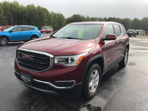 2018 GMC Acadia for sale at Greg's Auto Sales in Searsport ME