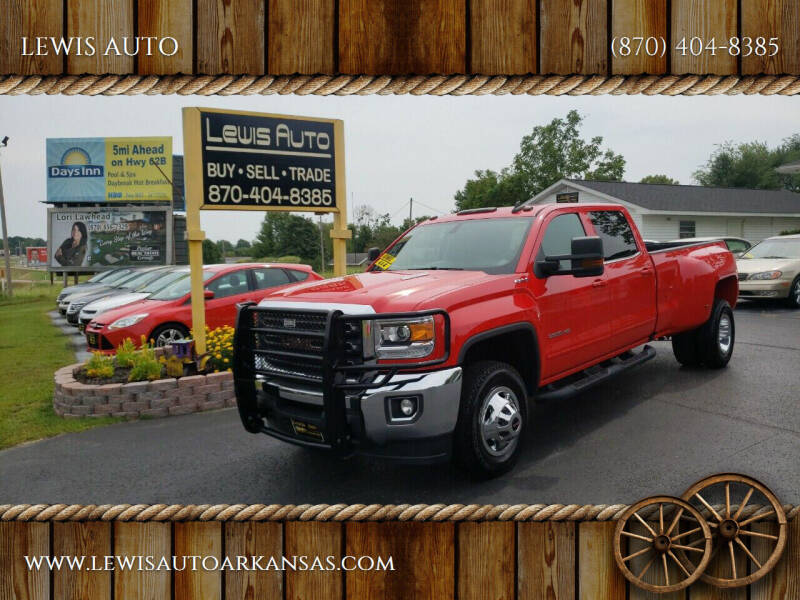 2016 GMC Sierra 3500HD for sale at LEWIS AUTO in Mountain Home AR
