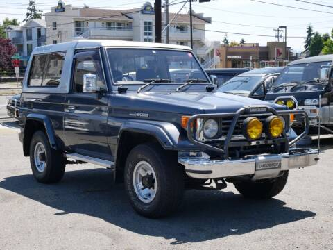 1990 Toyota Land Cruiser 70 for sale at JDM Car & Motorcycle LLC in Seattle WA