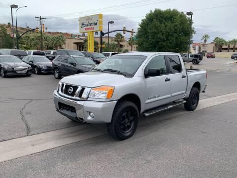 2012 Nissan Titan for sale at Boulevard Motors in Saint George UT