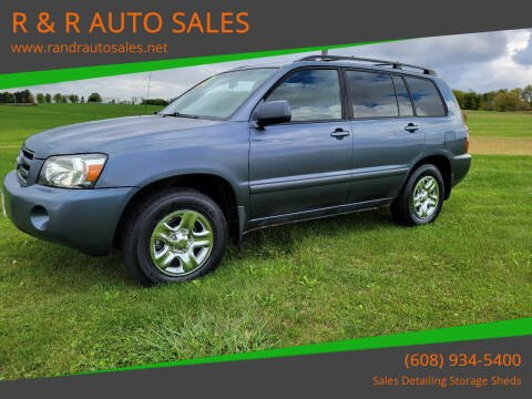 2006 Toyota Highlander for sale at R & R AUTO SALES in Juda WI