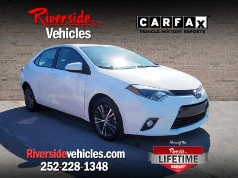 2016 Toyota Corolla for sale at Riverside Mitsubishi(New Bern Auto Mart) in New Bern NC