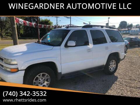 2004 Chevrolet Tahoe for sale at WINEGARDNER AUTOMOTIVE LLC in New Lexington OH