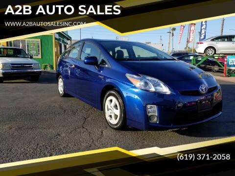 2011 Toyota Prius for sale at A2B AUTO SALES in Chula Vista CA