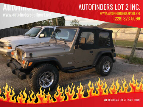 2002 Jeep Wrangler for sale at Autofinders in Gulfport MS