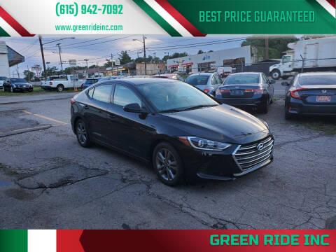 2018 Hyundai Elantra for sale at Green Ride Inc in Nashville TN