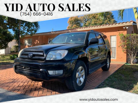 2005 Toyota 4Runner for sale at YID Auto Sales in Hollywood FL