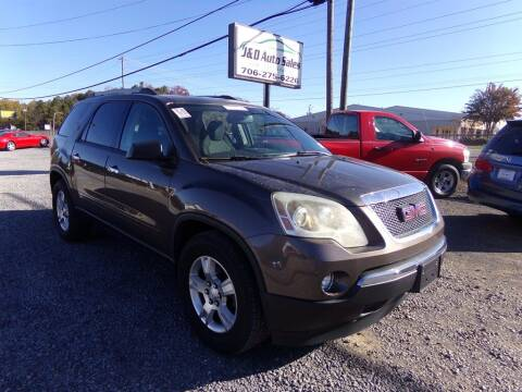 2012 GMC Acadia for sale at J & D Auto Sales in Dalton GA