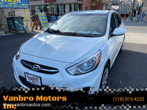 2015 Hyundai Accent for sale at Vanbro Motors Inc in Staten Island NY
