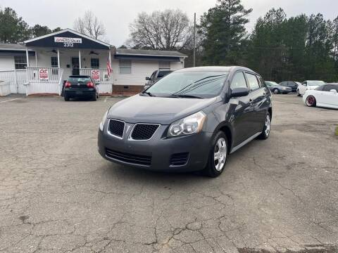 2009 Pontiac Vibe for sale at CVC AUTO SALES in Durham NC