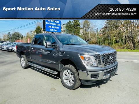 2018 Nissan Titan XD for sale at Sport Motive Auto Sales in Seattle WA