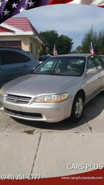 1998 Honda Accord for sale at Cars Plus in Sarasota FL
