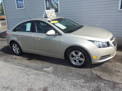 2014 Chevrolet Cruze for sale at Fulmer Auto Cycle Sales - Fulmer Auto Sales in Easton PA