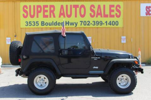 1998 Jeep Wrangler for sale at Super Auto Sales in Las Vegas NV