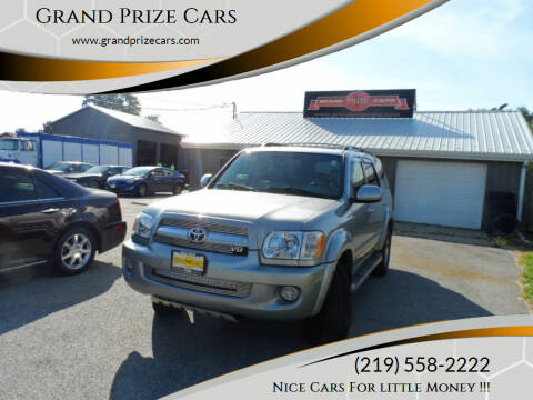 2006 Toyota Sequoia for sale at Grand Prize Cars in Cedar Lake IN