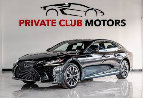 2018 Lexus LS 500 for sale at Private Club Motors in Houston TX