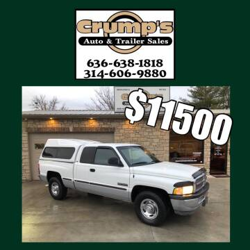1999 Dodge Ram Pickup 2500 for sale at CRUMP'S AUTO & TRAILER SALES in Crystal City MO