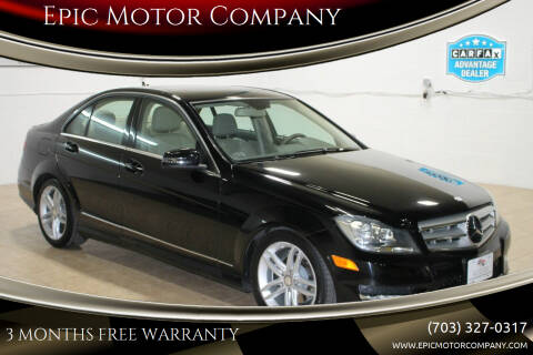 2012 Mercedes-Benz C-Class for sale at Epic Motor Company in Chantilly VA