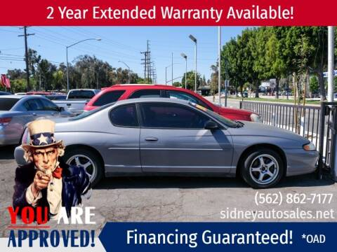 2004 Chevrolet Monte Carlo for sale at Sidney Auto Sales in Downey CA