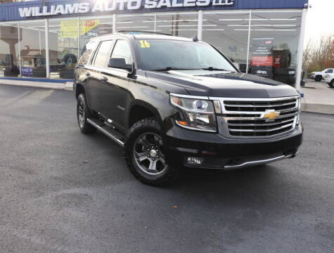 2016 Chevrolet Tahoe for sale at Williams Auto Sales, LLC in Cookeville TN