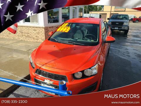 2013 Chevrolet Sonic for sale at MAUS MOTORS in Hazel Crest IL