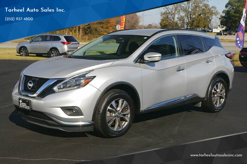2018 Nissan Murano for sale at Tarheel Auto Sales Inc. in Rocky Mount NC