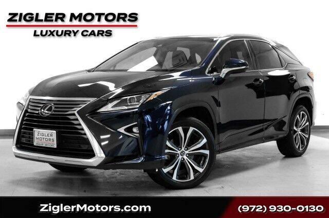 2018 Lexus RX 350 for sale at Zigler Motors in Addison TX