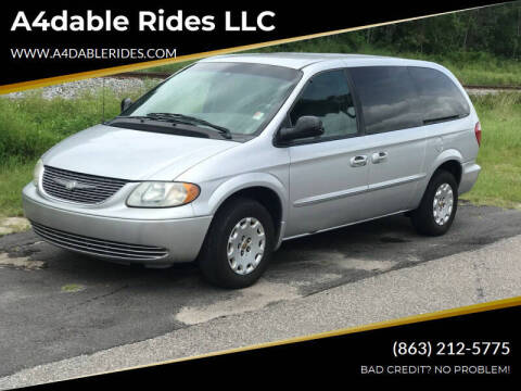 2002 Chrysler Town and Country for sale at A4dable Rides LLC in Haines City FL