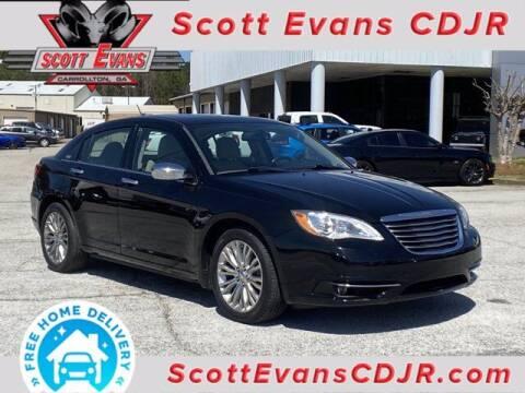 2011 Chrysler 200 for sale at SCOTT EVANS CHRYSLER DODGE in Carrollton GA