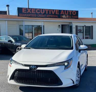2020 Toyota Corolla for sale at Executive Auto in Winchester VA