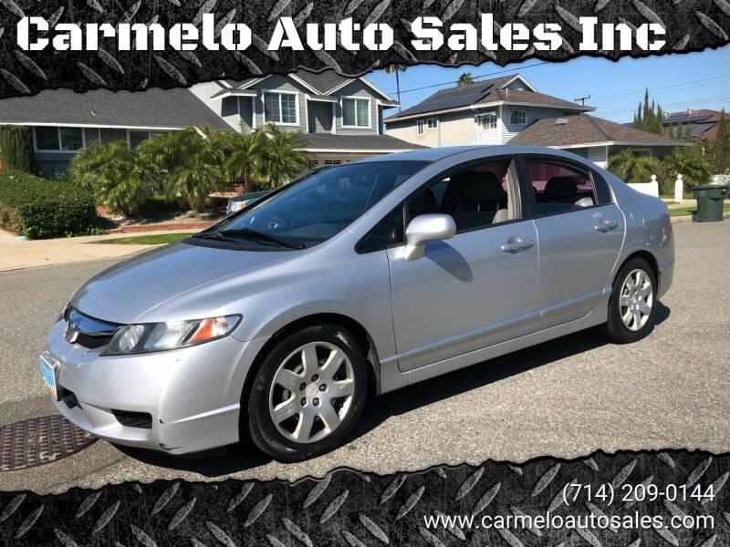 2011 Honda Civic for sale at Carmelo Auto Sales Inc in Orange CA