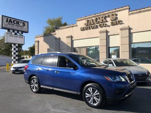 2018 Nissan Pathfinder for sale at JACK'S MOTOR COMPANY in Van Buren AR
