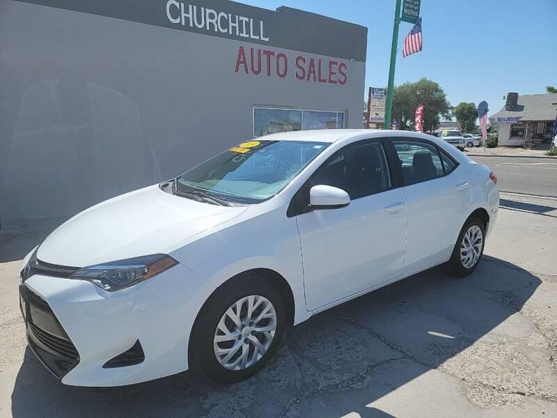 2019 Toyota Corolla for sale at CHURCHILL AUTO SALES in Fallon NV