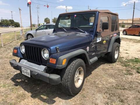 2001 Jeep Wrangler for sale at RIVERCITYAUTOFINANCE.COM in New Braunfels TX