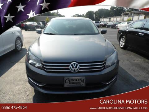 2013 Volkswagen Passat for sale at CAROLINA MOTORS in Thomasville NC