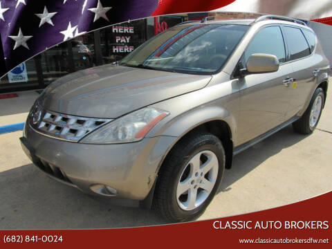 2003 Nissan Murano for sale at Classic Auto Brokers in Haltom City TX