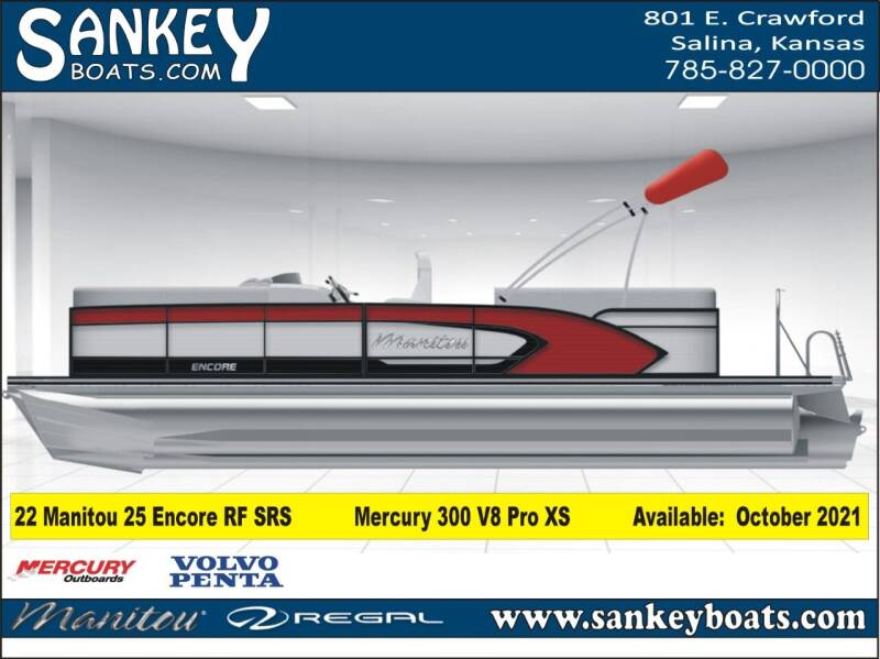 2022 Manitou 25 Encore RF SHP for sale at SankeyBoats.com in Salina KS