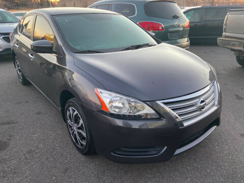2014 Nissan Sentra for sale at BELOW BOOK AUTO SALES in Idaho Falls ID