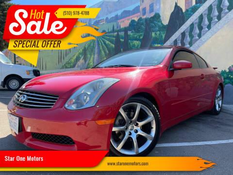 2003 Infiniti G35 for sale at Star One Motors in Hayward CA