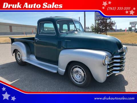1953 Chevrolet 3100 for sale at Druk Auto Sales in Ramsey MN