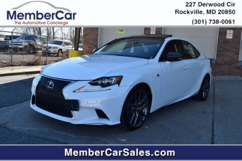 2015 Lexus IS 350 for sale at MemberCar in Rockville MD