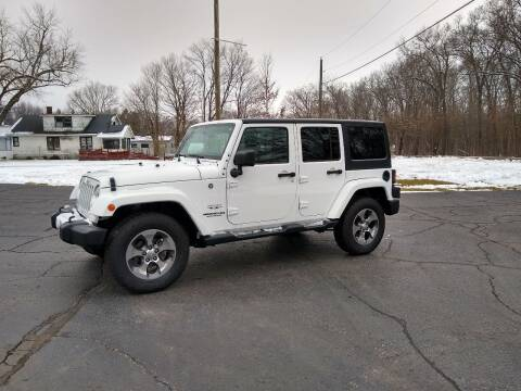2016 Jeep Wrangler Unlimited for sale at Depue Auto Sales Inc in Paw Paw MI