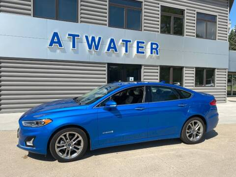 2019 Ford Fusion Hybrid for sale at Atwater Ford Inc in Atwater MN