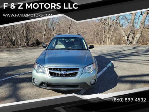 2009 Subaru Outback for sale at F & Z MOTORS LLC in Waterbury CT