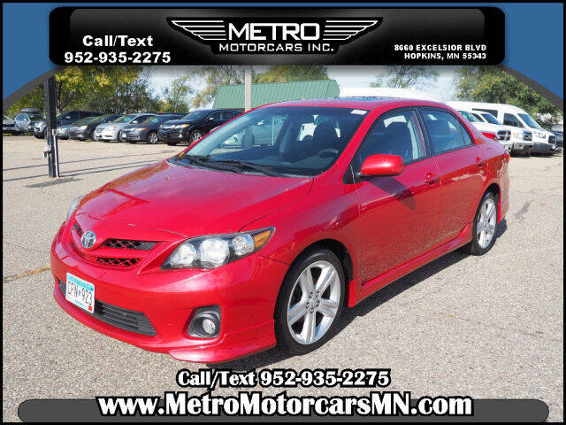 2013 Toyota Corolla for sale at Metro Motorcars Inc in Hopkins MN